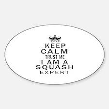 Squash Expert Designs Sticker (Oval)