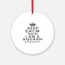 Squash Expert Designs Round Ornament
