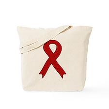 Burgundy Ribbon Tote Bag