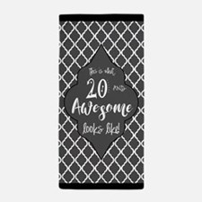Awesome 20 Years Old Gray Black Quatre Beach Towel