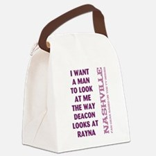 I WANT A MAN... Canvas Lunch Bag