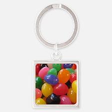 Unique Jelly bean Square Keychain
