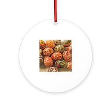 Cute Ukrainian egg Round Ornament