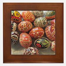 Cute Easter egg Framed Tile