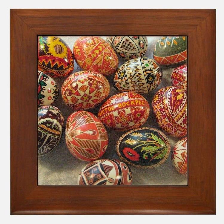 Cute Ukrainian Framed Tile