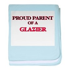 Proud Parent of a Glazier baby blanket