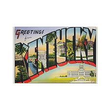 Kentucky Postcard Rectangle Magnet