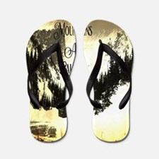 Funny Mountain Flip Flops