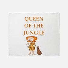 queen of the jungle Throw Blanket