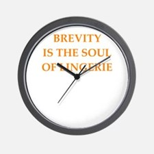 brevity Wall Clock