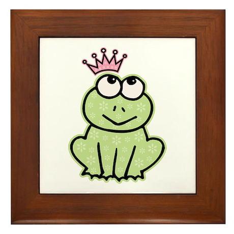 Frog Princess Framed Tile