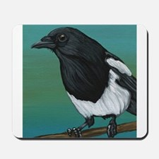 Magpie Crow Bird Wildlife Mousepad