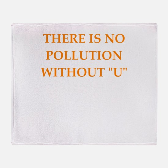 pollution Throw Blanket