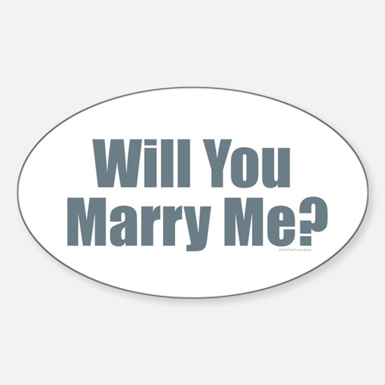 Will You Marry Me Decal