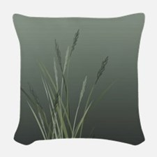 Sage Grass Woven Throw Pillow