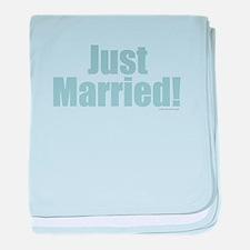 Just Married baby blanket