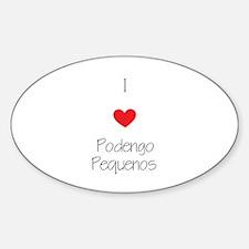I love Podengo Pequenos Sticker (Oval)