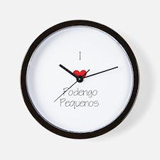 I love Podengo Pequenos Wall Clock