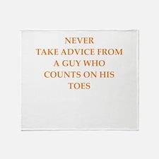 advice Throw Blanket