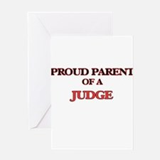 Proud Parent of a Judge Greeting Cards
