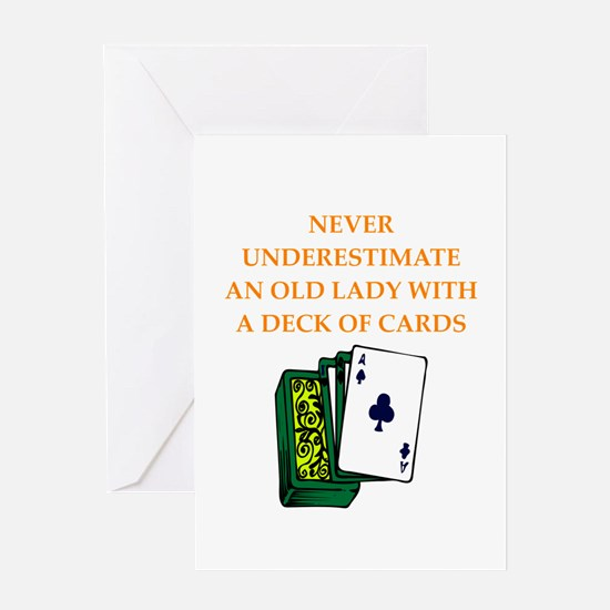 a funny joke Greeting Cards