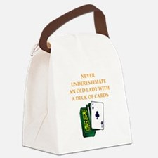 a funny joke Canvas Lunch Bag