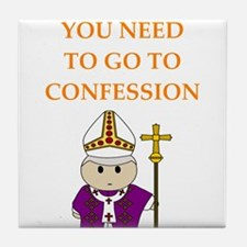 confession Tile Coaster