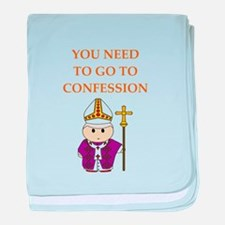 confession baby blanket