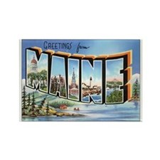 Maine Postcard Rectangle Magnet