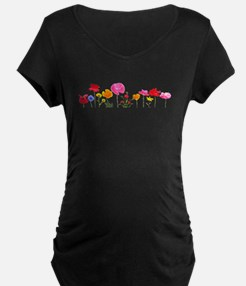 wild meadow flowers Maternity T-Shirt