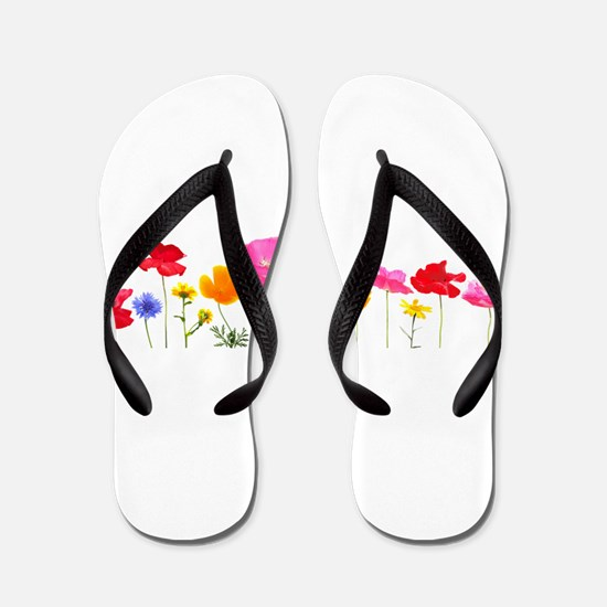 wild meadow flowers Flip Flops