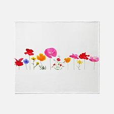 wild meadow flowers Throw Blanket