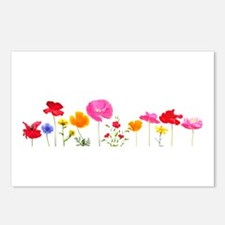 wild meadow flowers Postcards (Package of 8)
