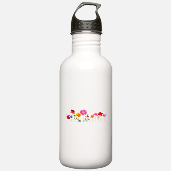 wild meadow flowers Water Bottle