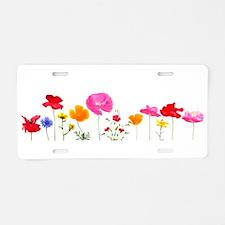 wild meadow flowers Aluminum License Plate