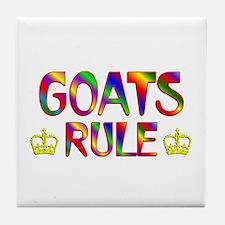 Goats Rule Tile Coaster