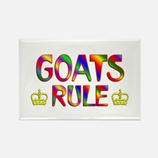 Goats Rule Rectangle Magnet