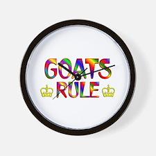 Goats Rule Wall Clock