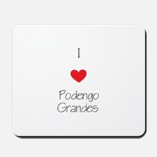 I love Podengo Grandes Mousepad