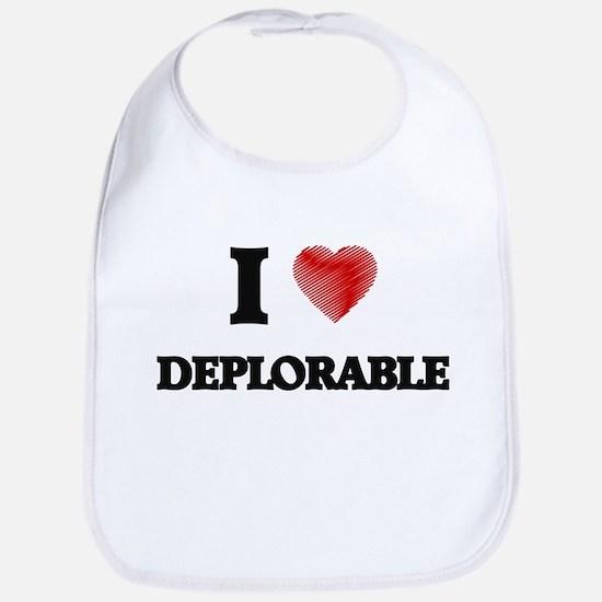 I love Deplorable Bib