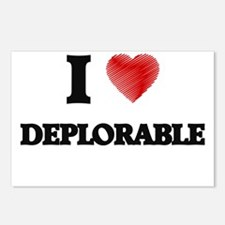 I love Deplorable Postcards (Package of 8)
