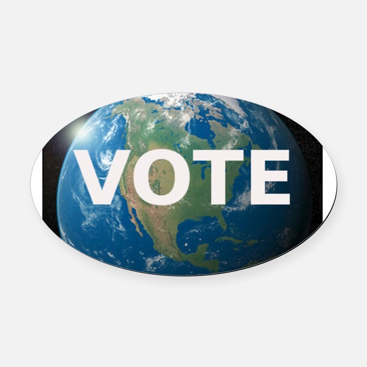 EARTHVOTE Oval Car Magnet