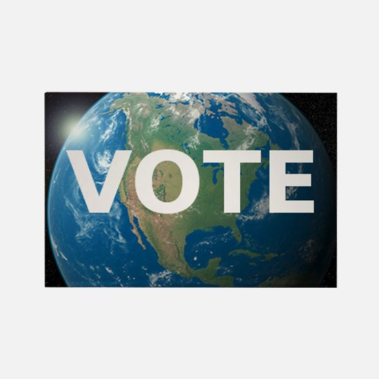 EARTHVOTE Rectangle Magnet