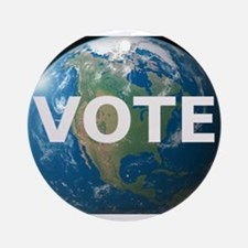 EARTHVOTE Round Ornament