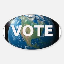 EARTHVOTE Sticker (Oval)