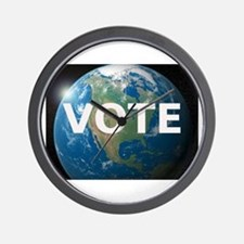 EARTHVOTE Wall Clock