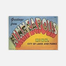Minneapolis Postcard Rectangle Magnet