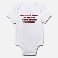 My tractor (red) Infant Bodysuit