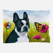 Dog 134 Boston Terrier Pillow Case