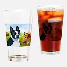Dog 134 Boston Terrier Drinking Glass